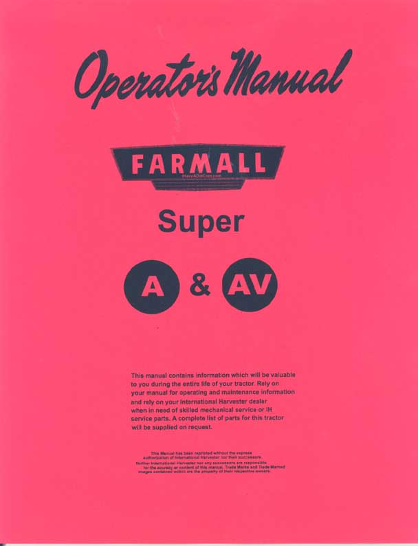 Farmall H HV Service manual - Welcome to Grandpas